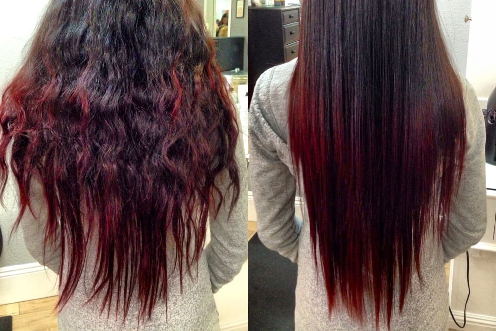 My before and after Brazilian Blowout with Andee. Insane ...
