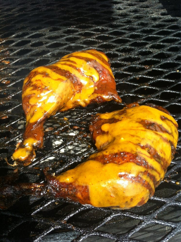 smoked bbq chicken smothered with florida gold sauce yelp. Black Bedroom Furniture Sets. Home Design Ideas