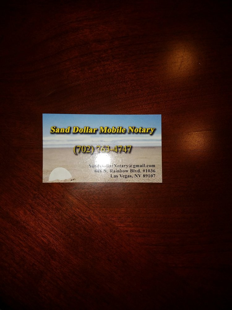 Sand Dollar Mobile Notary