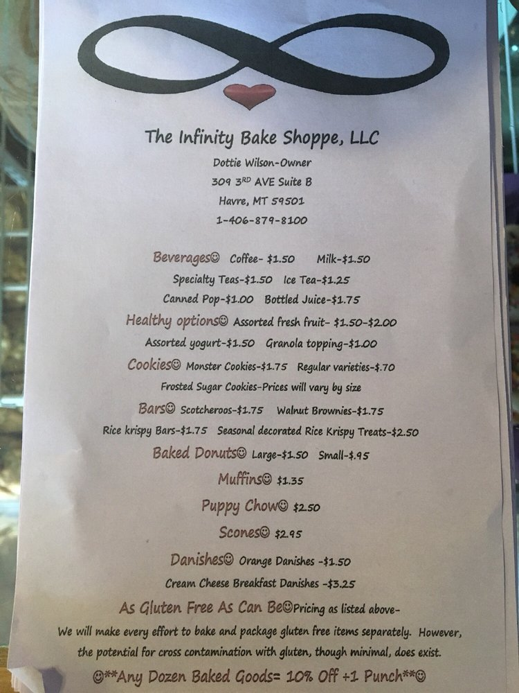 The Infinity Bake Shoppe: 309 3rd Ave, Havre, MT