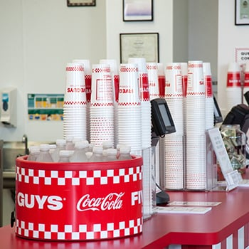 Five Guys: 1909 Whiskey Rd, Aiken, SC
