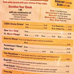 Texas Roadhouse Menu Nutrition