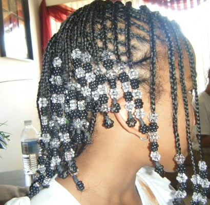 No Knot French Braids Mohawk Style With Beads Yelp