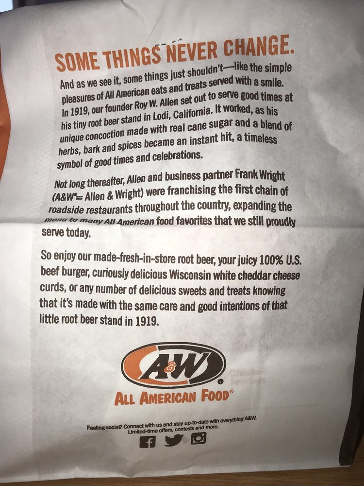 A W Root Beer Drive In 25 Photos Burgers 908 W Aztec Blvd