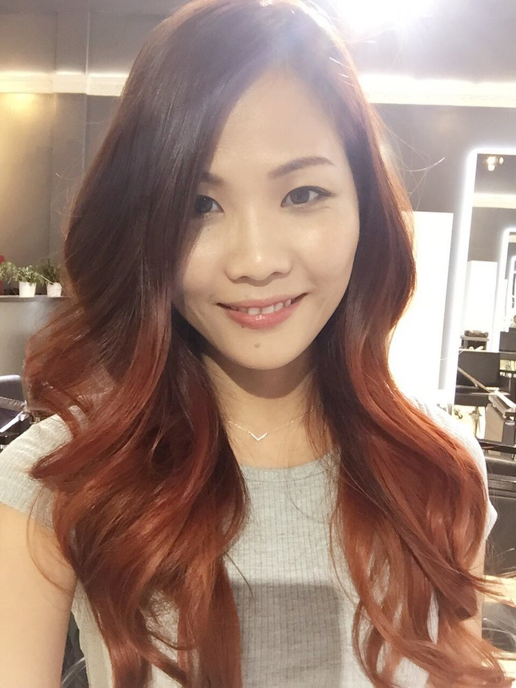 Red Copper Ombre Hair Color Hair By Sonnia Yelp