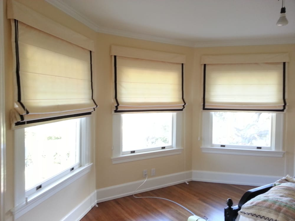 Top down bottom up flat roman shades perimeter edge for Motorized top down bottom up shades