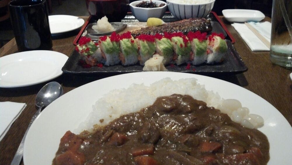 Beef curry christmas roll spicy tuna lobster grilled for Asian cuisine allendale