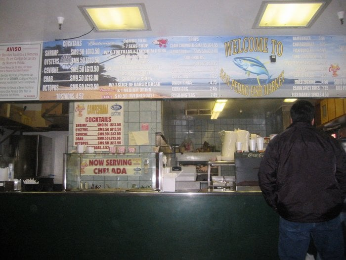 Pick up your order here when it 39 s ready yelp for San pedro fish market and restaurant