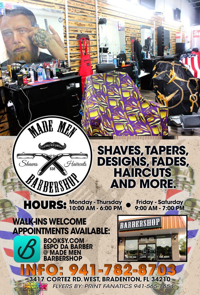 Made Men Barbershop: 3417 Cortez Rd W, Bradenton, FL