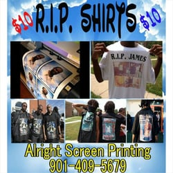 photo of alright screen printing signs memphis tn united states