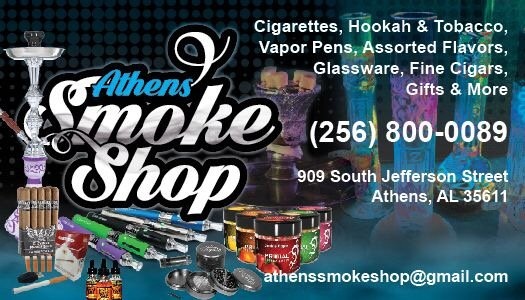 Athens Smoke Shop: 909 S Jefferson St, Athens, AL