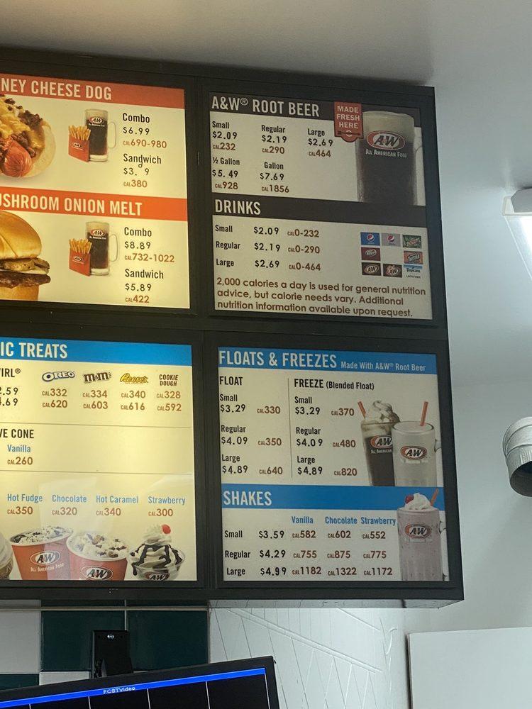 A&W Restaurant: 898 E Highway 30, McCammon, ID