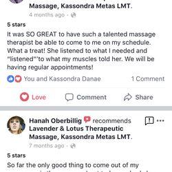 Massage come out