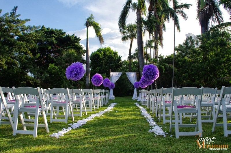 The Miami Beach Botanical Gardens Wedding Ceremony Decor Yelp