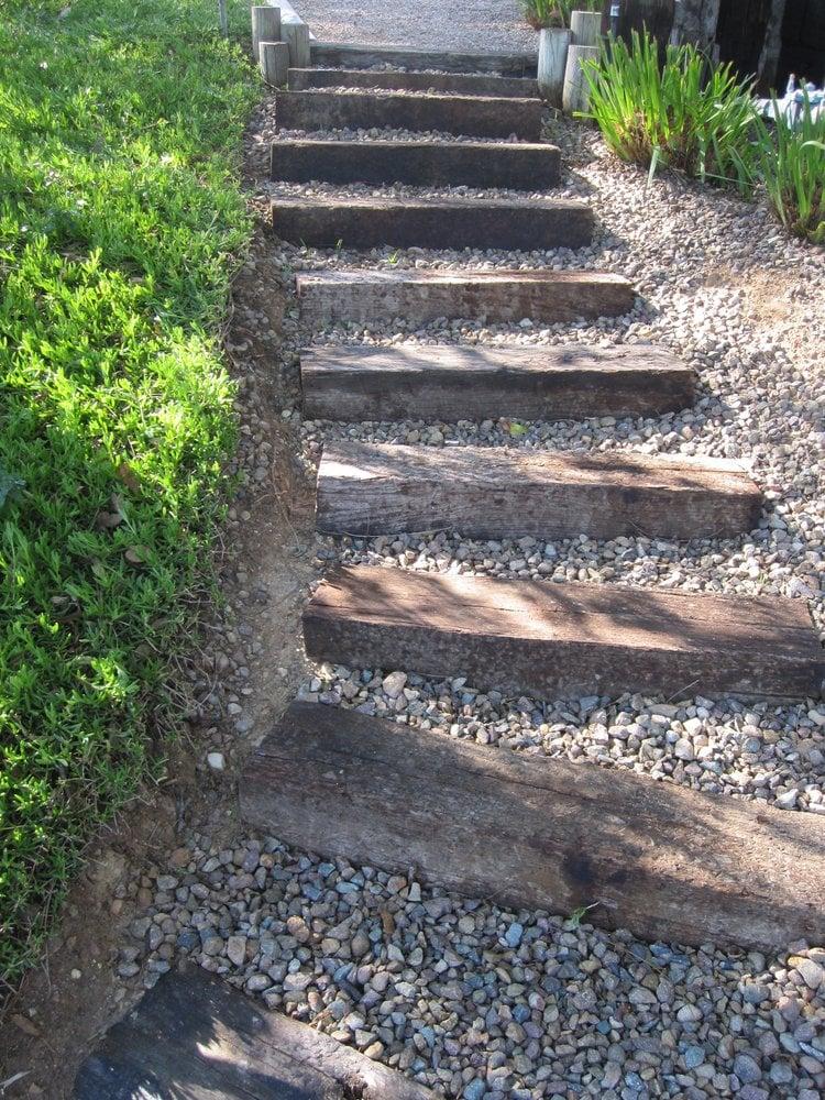 Railroad Tie Stairway - Yelp