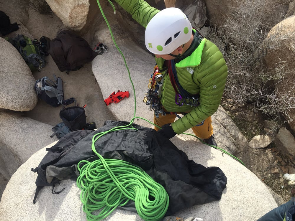 climbing, rock climbing, traditional, trad class, class, joshua tree, california