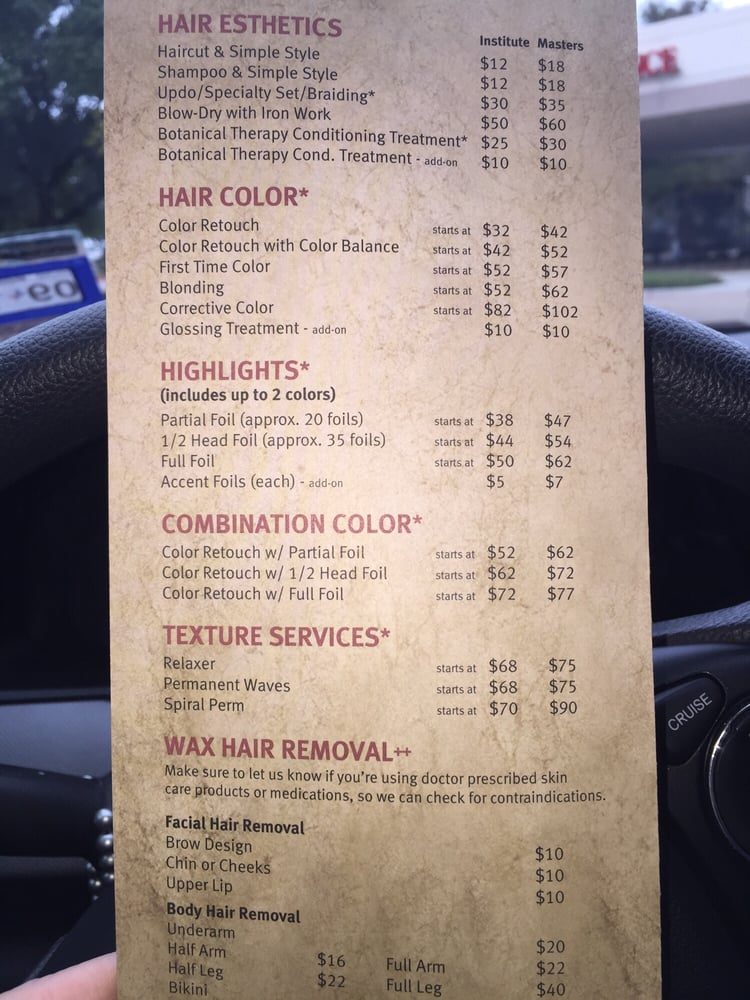 Price List As Of 112015 Yelp
