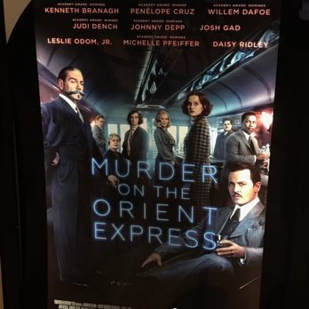 Murder on the orient express w Penelope cruise, Johnny Depp