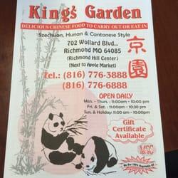King Garden Chinese Restaurants 702 Wollard Blvd Richmond Mo United States Restaurant
