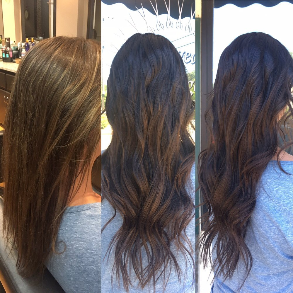 Redken Shades Eq Gloss And Dream Catcher Extensions By Britney