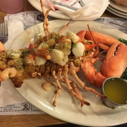 Photo Of Anglers Restaurant Hampden Me United States Baked Stuffed Lobster