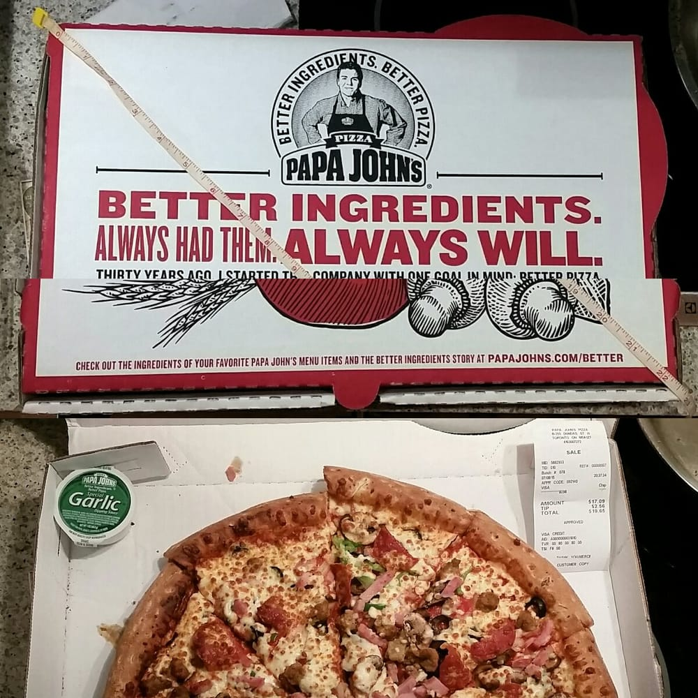 Papa John's is committed to serving superior quality traditional pizza for take out and delivery.