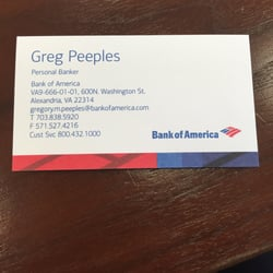photo of bank of america alexandria va united states if you need - Bank Of America Business Card