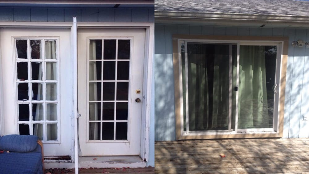 Before After Door Replacement I Replaced These Old Rotten
