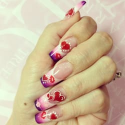 Glamrs nail spa nail salons 303 ne 3rd ave cape coral fl photo of glamrs nail spa cape coral fl united states valentines nails prinsesfo Images