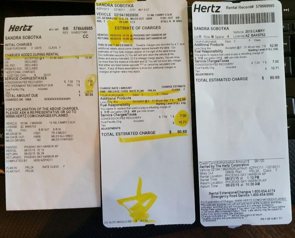Hertz Rent A Car Phoenix Reviews