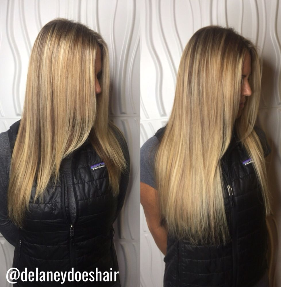 Hair Color And Extensions By Delaney To Fill In Thinner Areas And