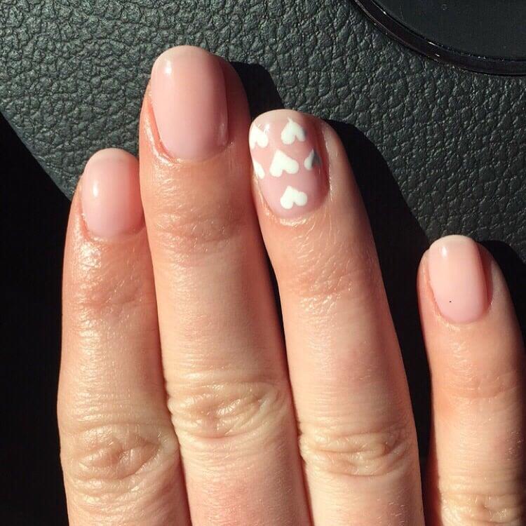 Gel nails. Color: OPI Bubble Bath. Gel by Mai, nail art by Sheila ...
