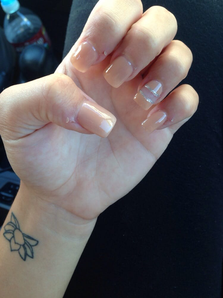 Full set ! Nude nails with design - Yelp