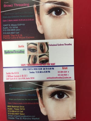 Austin Eyebrow Threading 6607 S Interstate 35 Austin, TX Hair Salons