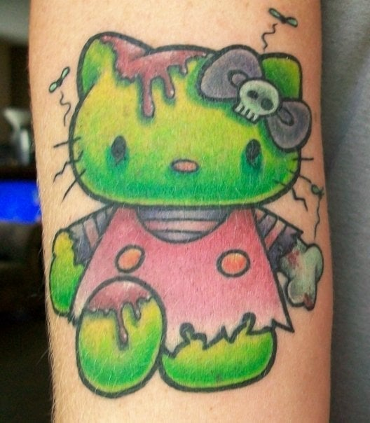 e0380fb6d Photo of My Tattoo - Alhambra, CA, United States. zombie hello kitty.
