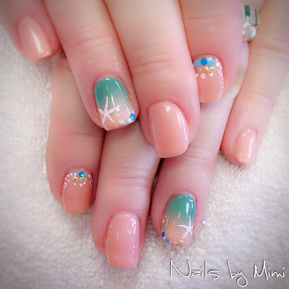 Photo Of Op Nail Spa Poquoson Va United States Lovely Ombre Beach