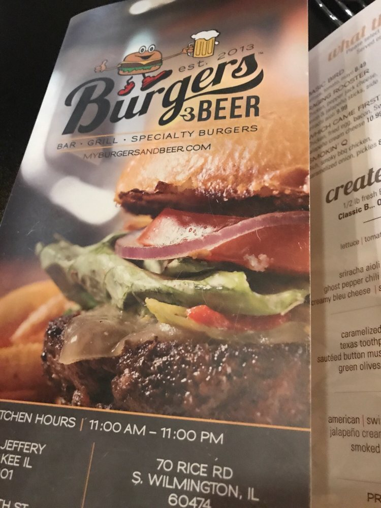 Burgers & Beer: 109 W 8th St, Gibson City, IL