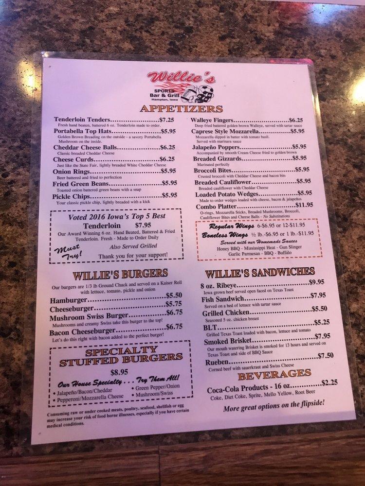 Willie's Sports Bar: 10 1st St NW, Hampton, IA