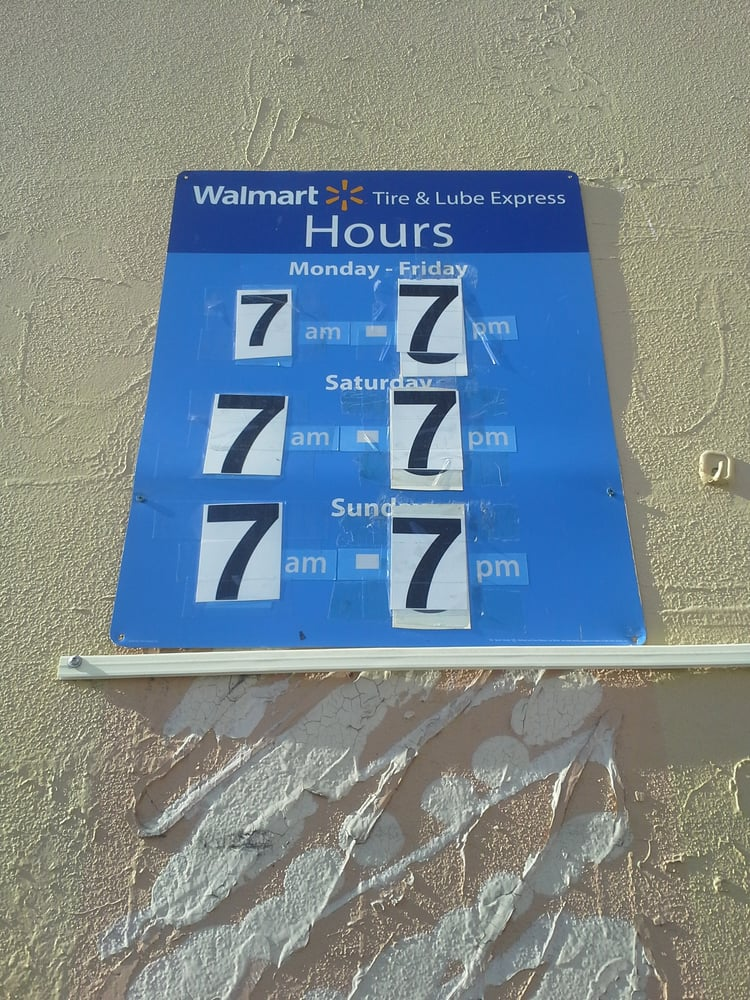 walmart union city tire lube center hours    pm daily yelp