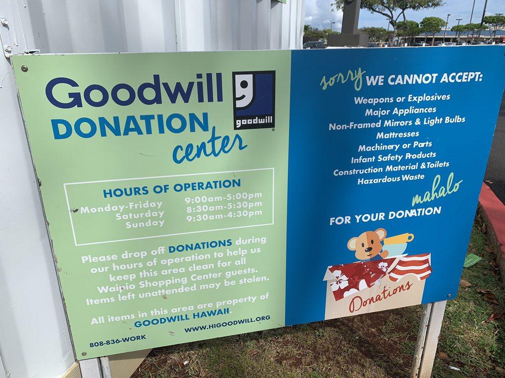 Goodwill Donation Center - Donation Center - 94-1024 Waipio