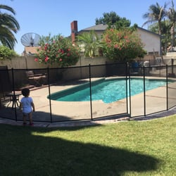 photo of nathans pool fence brea ca united states pool fence installed - Pool Fence Installation