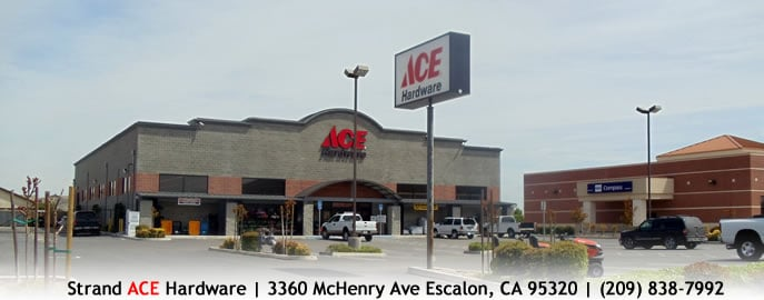 Strand Ace Hardware: 3360 Mchenry Ave, Escalon, CA