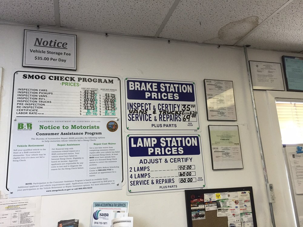 Dmv Brake And Light Inspection San Jose Shelly Lighting