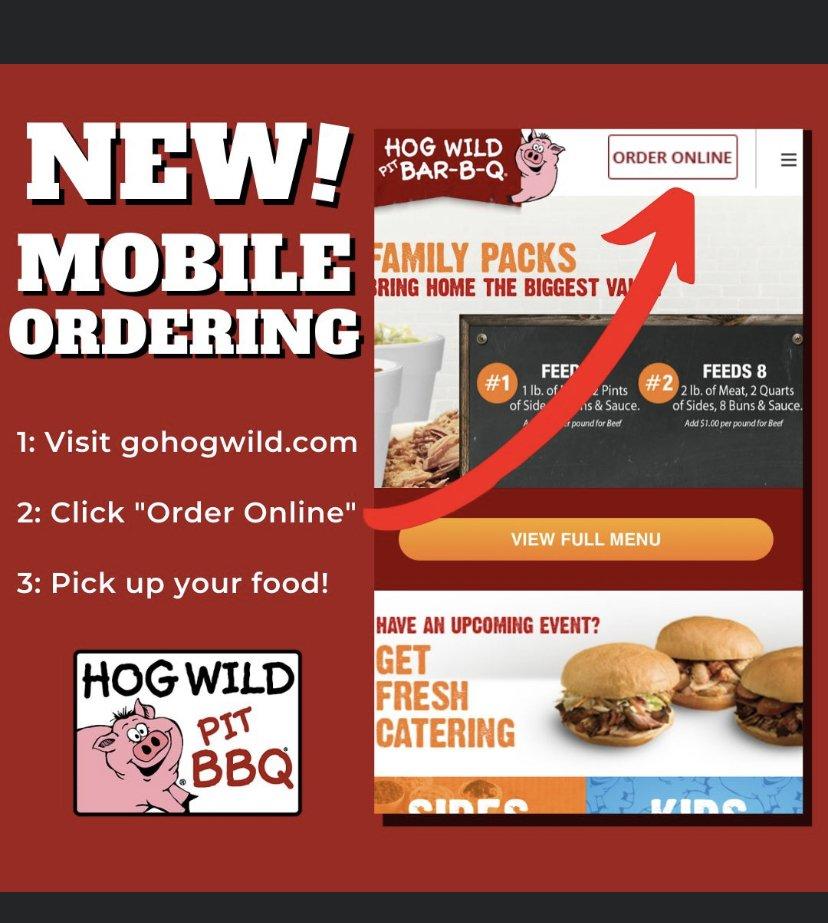 Food from Hog Wild Pit Bar-B-Q