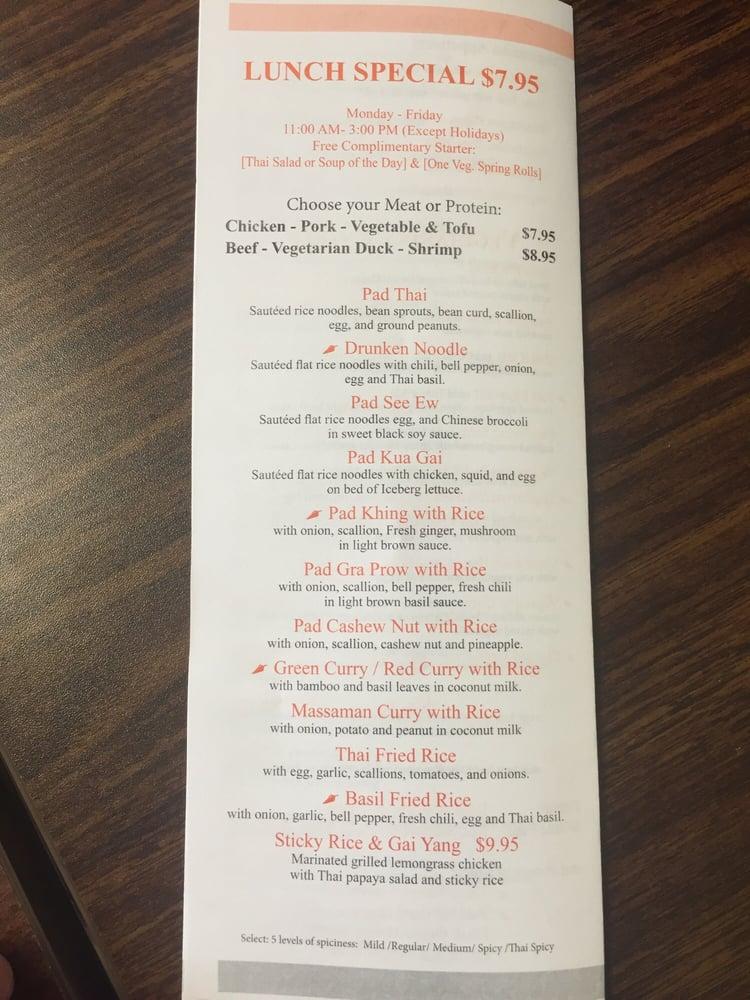 Thai Restaurants Near Berkeley Heights Nj