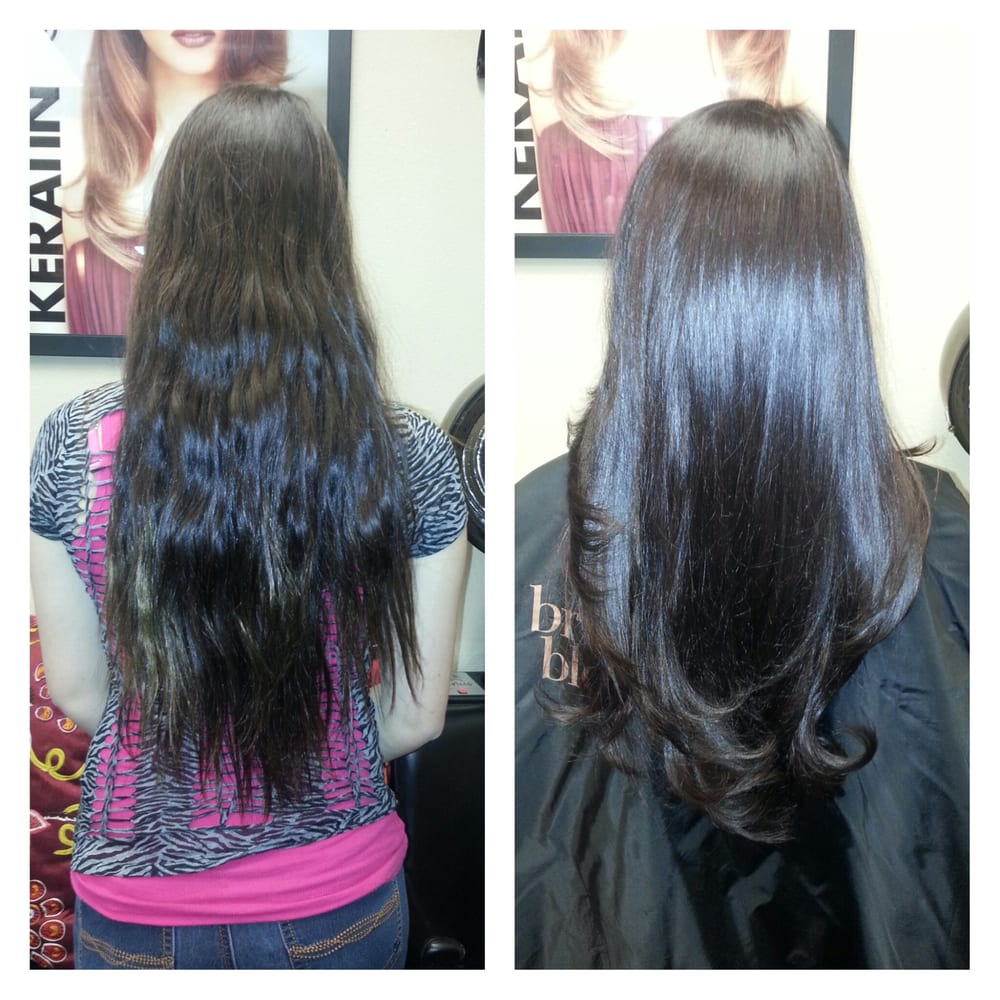 single process color haircut before after schedule