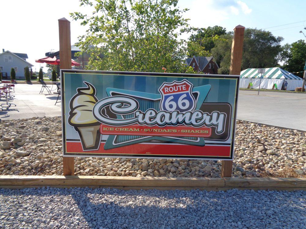 Route 66 Creamery: 11 S Old Rte 66, Hamel, IL