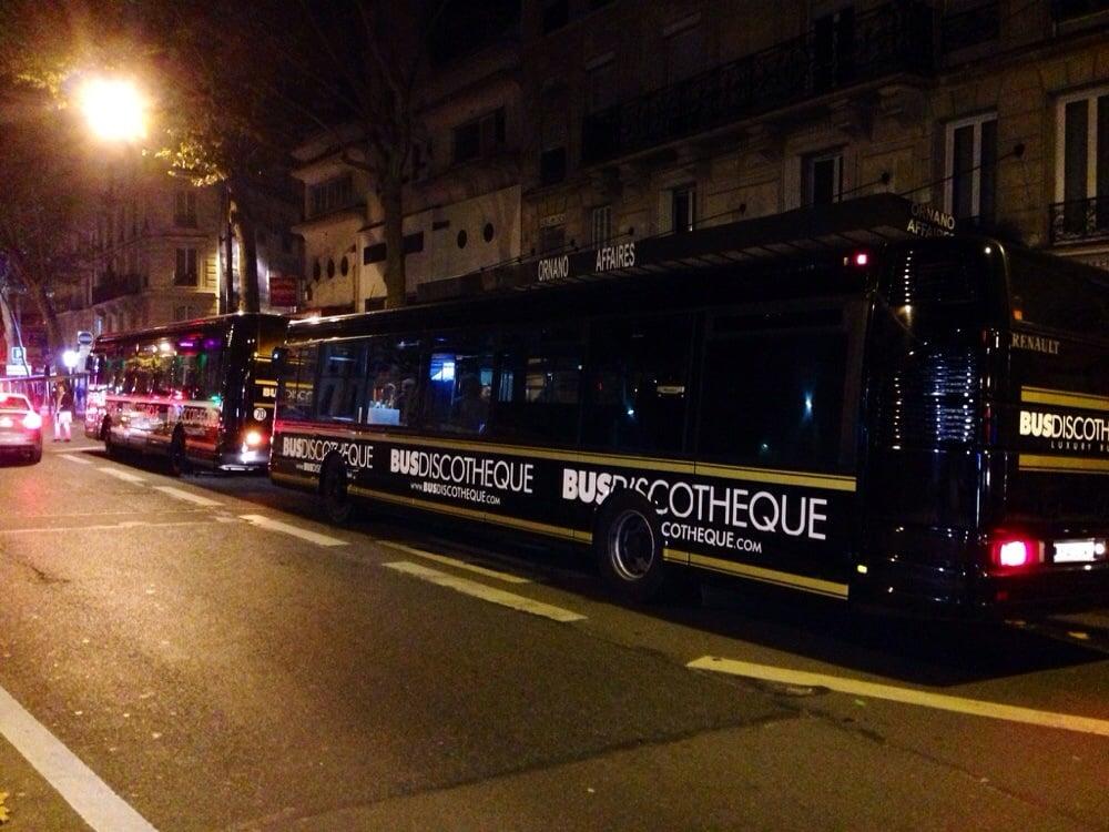 le bus discoth que organisation d 39 v nements 23 rue de ponthieu 8 me paris france. Black Bedroom Furniture Sets. Home Design Ideas