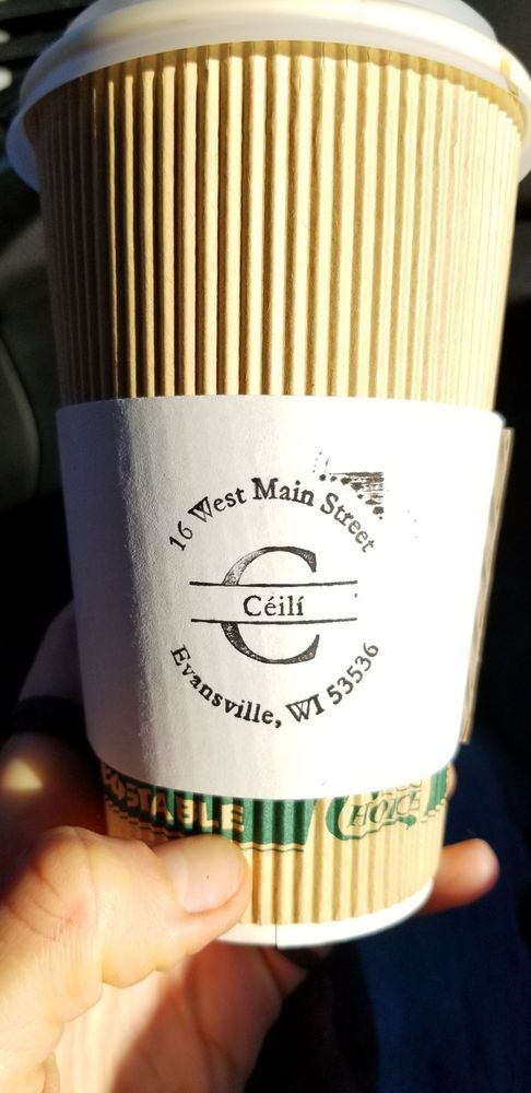 Ceili Coffee and Wine Bar: 14 W Main St, Evansville, WI