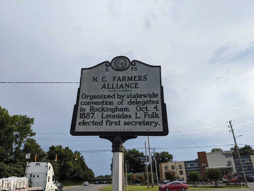 NC Farmers' Alliance Historical Marker: 304 W Greene St, Rockingham, NC